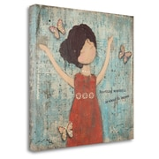 Zoomie Kids 'Something Wonderful' Acrylic Painting Print on Wrapped Canvas; 24'' H x 23''W