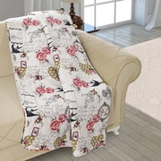 August Grove Beauville Double Sided Multi Use Reversible Summer Romance Quilt Blanket