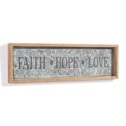 August Grove 'Faith-Hope-Love' Framed Textual Art on Metal