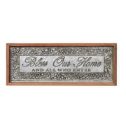 August Grove 'Bless Our Home' Framed Textual Art on Metal