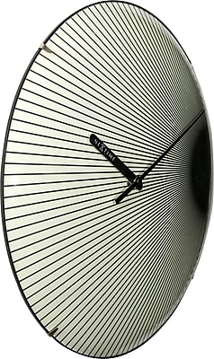 Latitude Run Rays Dome 13.78'' Wall Clock WYF078281747809
