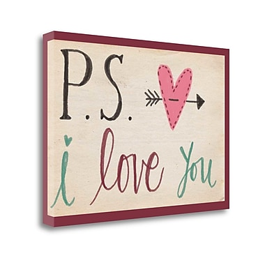 Red Barrel Studio 'P.S. I Love You' Textual Art on Wrapped Canvas; 22'' H x 32'' W