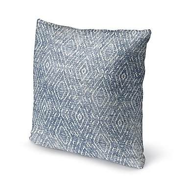 Gracie Oaks Byrine Destressed Accent Throw Pillow; 24'' x 24''