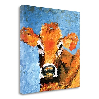 Gracie Oaks Cow' Print on Wrapped Canvas; 27''H x 27'' W