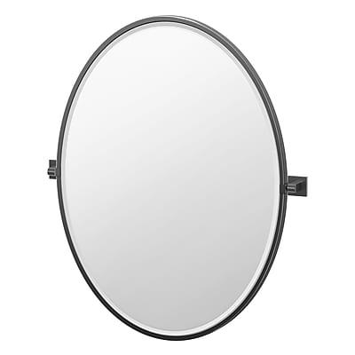 Gatco Elevate Frameless Oval Bathroom Mirror; 33'' H x 28.25'' W x 2'' D