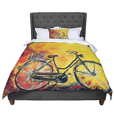 East Urban Home Josh Serafin To Go Bicycle Comforter; Twin