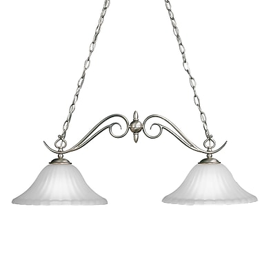 Darby Home Co Bafford 2-Light Kitchen Island Pendant; Tannery Bronze