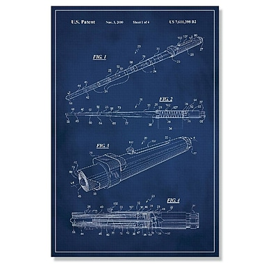 17 Stories 'Star Wars Lightsaber Patent' Graphic Art Print on Canvas; 36'' H x 24'' W