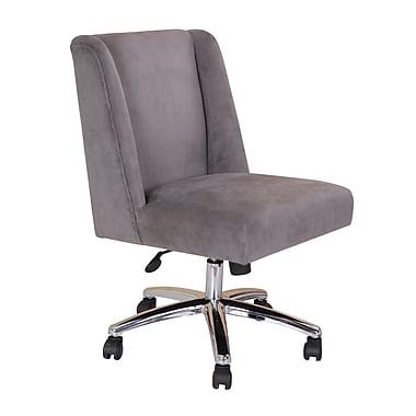 Varick Gallery Wightman Decorative Mid-Back Desk Chair; Gray