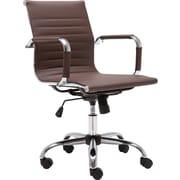 Ebern Designs Kaylin Leather Desk Chair; Brown