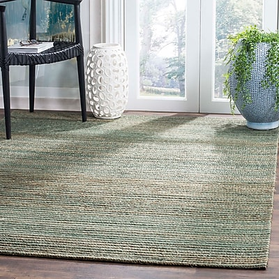 Highland Dunes Abia Hand-Woven Sage Area Rug; Rectangle 4' x 6'