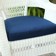 Highland Dunes Lounge Outdoor Chair Cushion; Blue