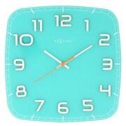 Latitude Run Classy Square Wall Clock; Turquoise