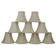 Mercer41  6'' Silk Bell Clip-on Lamp Shade (Set of 9); Cream