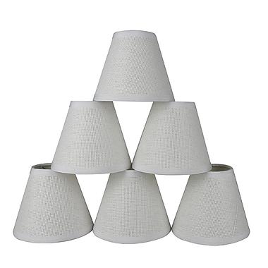 Gracie Oaks 6'' Paper Empire Lamp Shade (Set of 6)