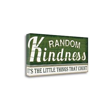 Red Barrel Studio 'Random Kindness' Textual Art on Wrapped Canvas; 13'' H x 29'' W