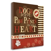 Red Barrel Studio 'Paw Prints' Textual Art on Wrapped Canvas; 20'' H x 20'' W