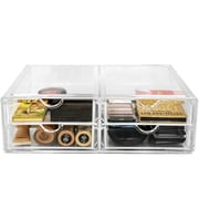 Rebrilliant 4 Drawer Cosmetic Organizer w/ Freestanding