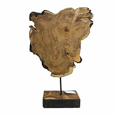 Union Rustic Traditional Wooden Sculpture w/ Stand
