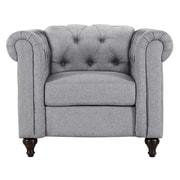 Alcott Hill Jemima Chesterfield Chair; Gray
