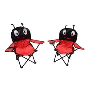 Zoomie Kids Myra Ant Image Kids Folding Camping Chairs w/ Cup Holder (Set of 2)