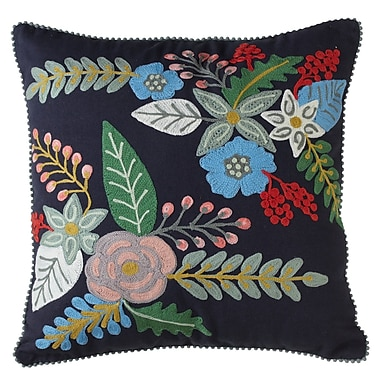 August Grove Cohutta Embroidered Throw Pillow