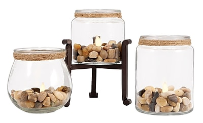 Highland Dunes 3 Piece Glass Votive Holder Set