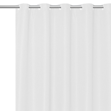 Charlton Home Stamford Polyester Shower Curtain; White