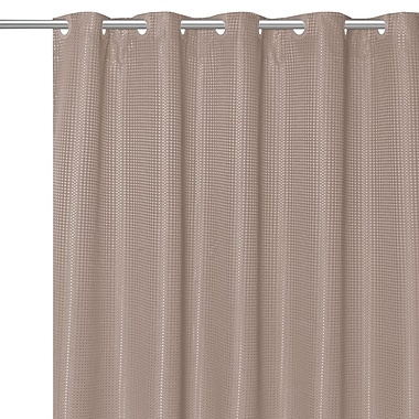 Charlton Home Stamford Polyester Shower Curtain; Taupe