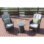 Gracie Oaks Chartres 3 Piece Bistro Set w/ Cushions