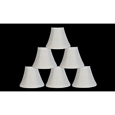 Bloomsbury Market 6'' Burlap Bell Candelabra Shade (Set of 6) (Set of 6); Ivory