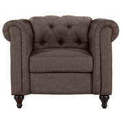 Alcott Hill Jemima Chesterfield Chair; Dark Brown