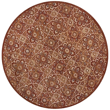 Bloomsbury Market Holder Rust Area Rug; Round 7'7''