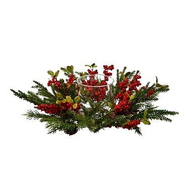Alcott Hill Pine and Berry Centerpiece