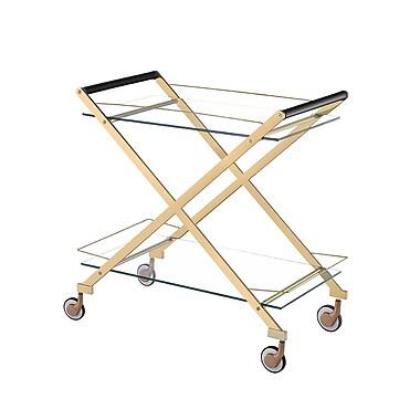 Everly Quinn Bertram Modern Metal Bar Cart