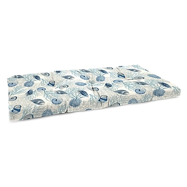 Highland Dunes Indoor Bench Cushion w/ Linen Upholstery; Shall We Dance Surf