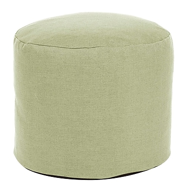 Highland Dunes Vinita Tall Pouf Sterling Ottoman; Willow