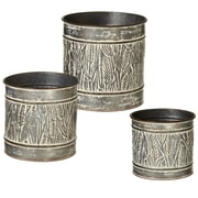 CBK Outdoor Living Embossed Wheat 3 Piece Pot Planter Set