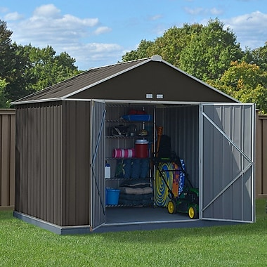 Arrow EZEE Shed Extra High Gable 10' x 8' Storage Shed; Charcoal/Cream