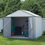 Arrow EZEE Shed Extra High Gable 10' x 8' Storage Shed; Cream/Charcoal