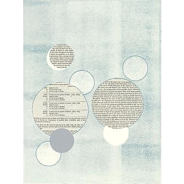 Brayden Studio 'Light Blue Word Bubble' Print on Wrapped Canvas