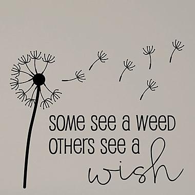 Belvedere Designs LLC Some See a Weed Garden Dandelion Wall Decal