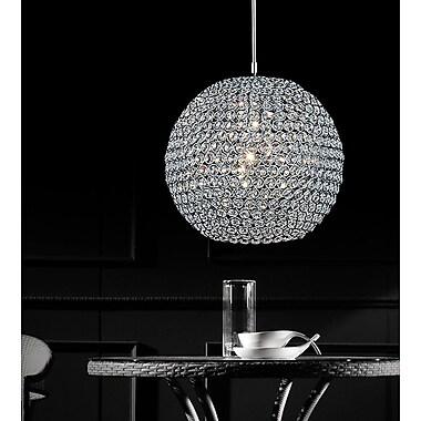 CrystalWorld 1-Light Globe Pendant; 9''H x 10''W x 10''D