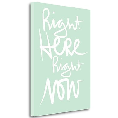 Ivy Bronx 'Here and Now - Mint White' Textual Art on Wrapped Canvas; 32'' H x 24'' W