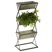 CBK Outdoor Living Collapsible 3 Tier Galvanized Vertical Garden