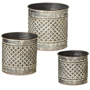 CBK Outdoor Living Embossed Diamond 3 Piece Pot Planter Set