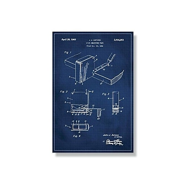 17 Stories 'Measuring Tape Patent' Graphic Art Print on Canvas; 18'' H x 12'' W