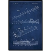 17 Stories 'Star Wars Lightsaber Patent' Framed Graphic Art Print on Canvas; 48'' H x 32'' W
