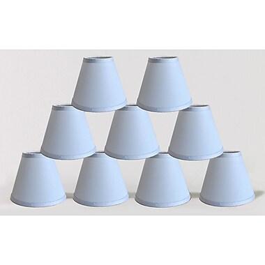 Symple Stuff 6'' Satin Empire Lamp Shade (Set of 9); Baby Blue