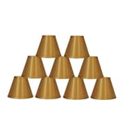 Symple Stuff 6'' Satin Empire Candelabra Shade (Set of 9) (Set of 9); Gold